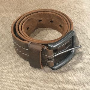 Fossil Belt Brown Leather Unisex